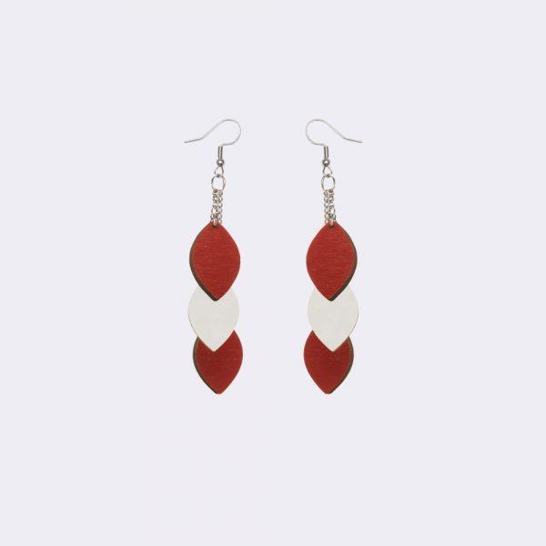 Laav Collection Mussukka roikkuva punainen valkoinen korvakorut