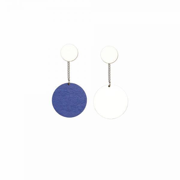 Laav Collection Yhdessä korvakoru iso valkoinen sininen