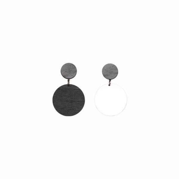 Laav Collection Yhdessä korvakoru pieni musta valkoinen