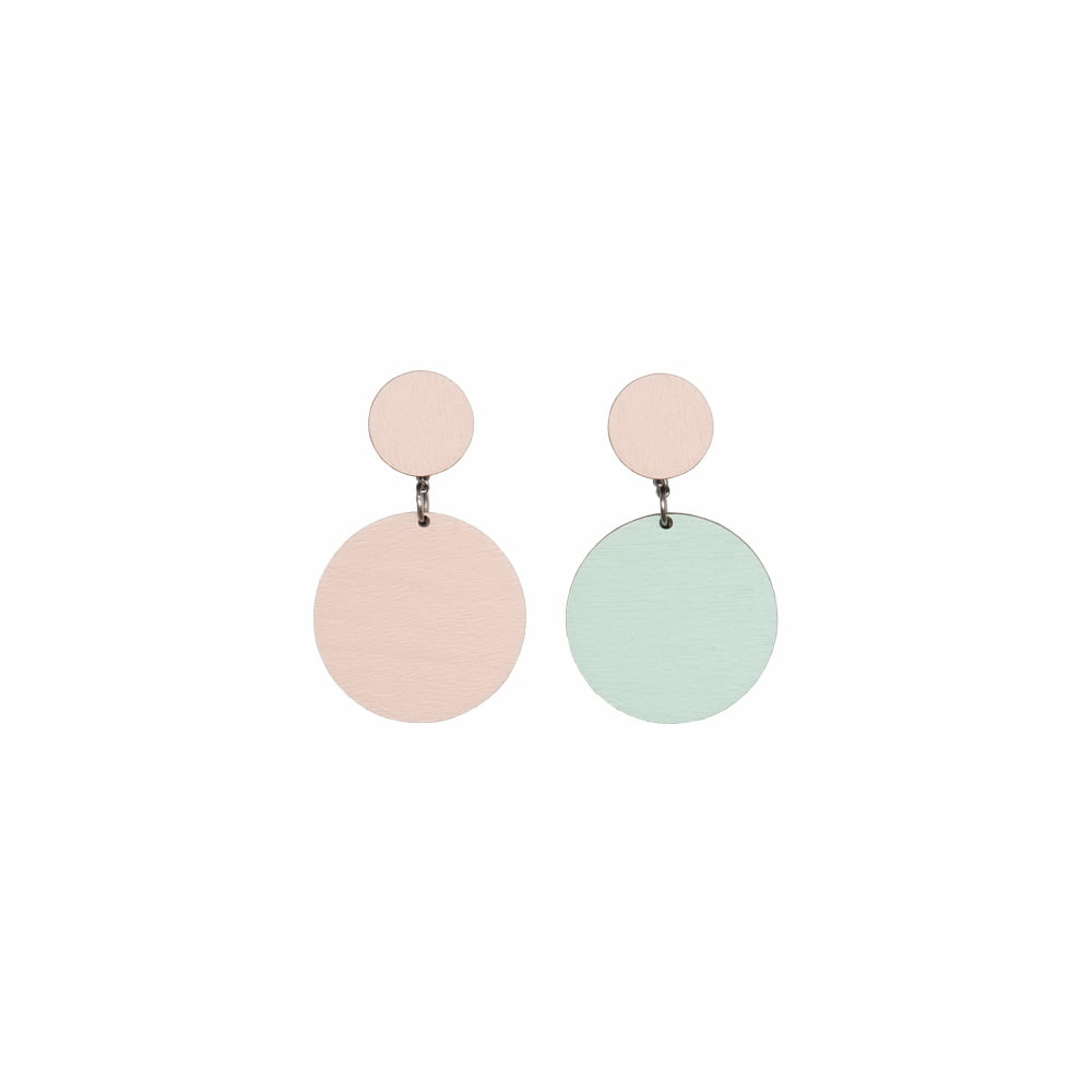 Laav Collection Yhdessä korvakoru pieni minttu vaaleanpunainen